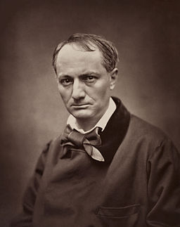 The poet Charles Baudelaire (photo by Étienne Carjat, ca. 1862, from Wikimedia commons)