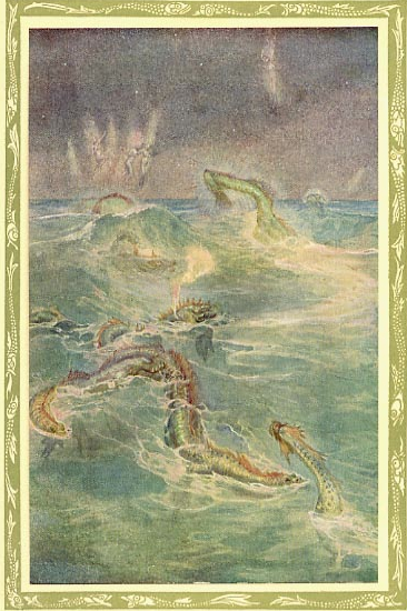 Illustration by Willy Pogany from the 1910 edition, published by Doran. Image scanned by George P. Landow, from the Victorian Web.