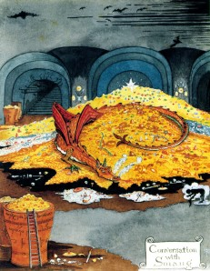 Smaug, J.R.R._Tolkien_-_Conversation_with_Smaug_(large)