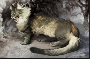 My Dragon Cat by artist Amelie Hutt Smirtouille