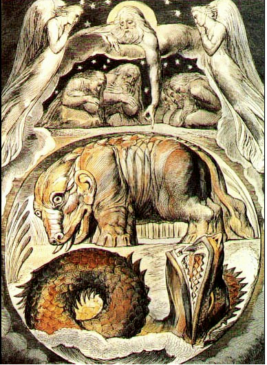 Behemoth and Leviathan by William Blake (from Wikimedia Commons)