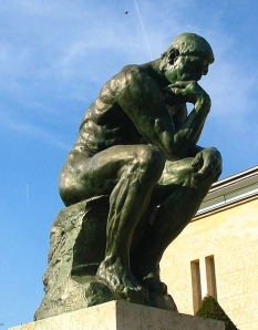 The Thinker, sculpture by Auguste Rodin Picture taken in Musee Rodin in Paris, France by wikipedian Pufacz