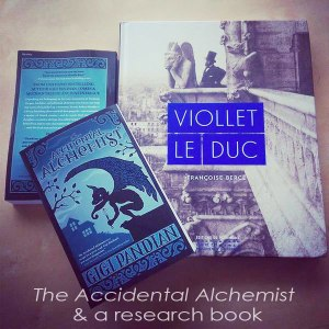 Viollet-le-Duc-book-w-Accidental-Alchemist-book-instagram-Dec-2014-web-text